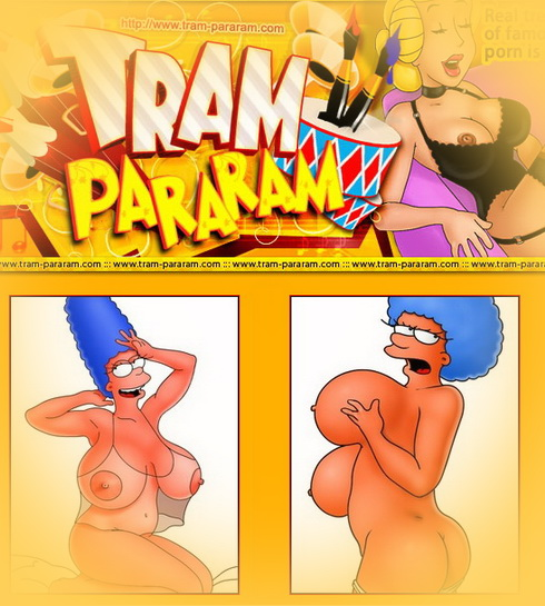 Busty sluts from famous cartoon : Bouvier sisters Marge Simpson