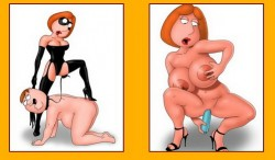 Watch Lois Griffin strip and dominate her fat hubby