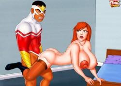 Fresh xxx toons : Superheroes porn Tram Pararam Toons